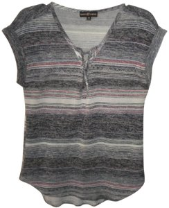 Almost Famous Clothing Short Sleeve Striped Hi/Lo Tunic Sweater