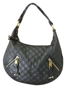 Marc Jacobs Luxery Quilted Decorative Zips Made In Italy Hobo Bag