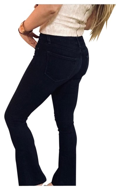 Item - Blue Dark Rinse Canyon Wash High Flare Leg Jeans Size 4 (S, 27)
