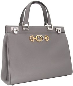 Gucci Zumi Medium Zumi Zumi Zumi Black Zumi Medium Tote in Grey
