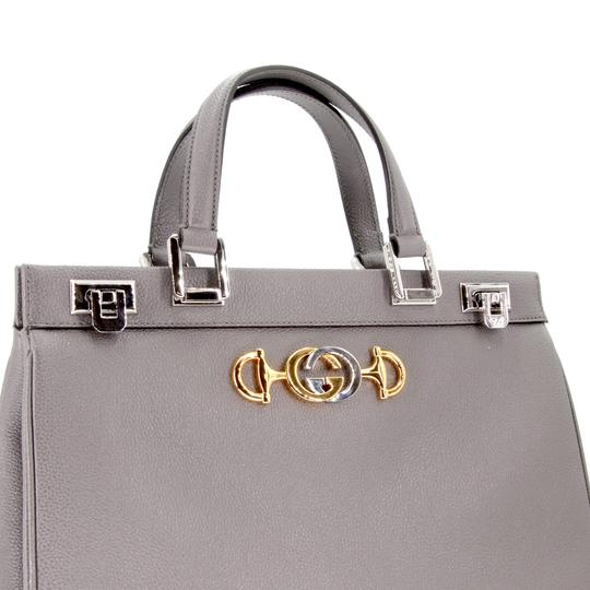 Gucci Zumi Medium Zumi Zumi Zumi Black Zumi Medium Tote in Grey Image 5