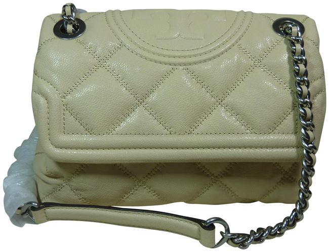 Item - Fleming Small Soft Distressed New Cream Leather Cross Body Bag