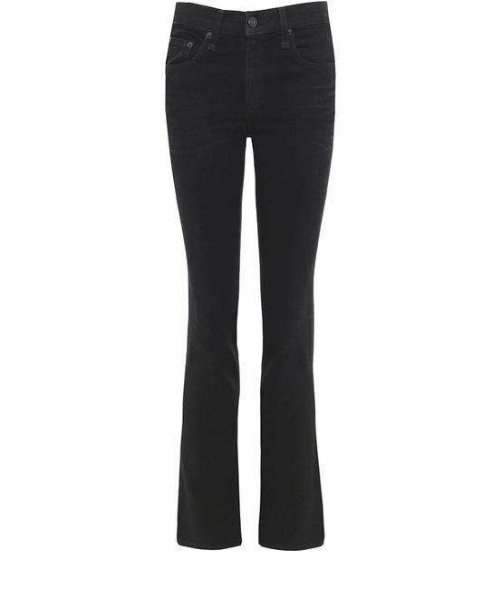 Rag & Bone Washed Black High Rise Slim Cropped Boot Cut Jeans Size 28 (4, S) Rag & Bone Washed Black High Rise Slim Cropped Boot Cut Jeans Size 28 (4, S) Image 1