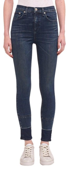 Item - Blue High Rise Ankle Vee Skinny Jeans Size 28 (4, S)