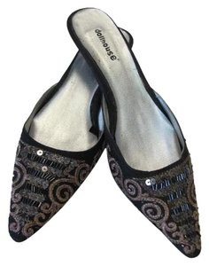 Dollhouse Size 6.50m BLACK, GOLD, SILVER Mules