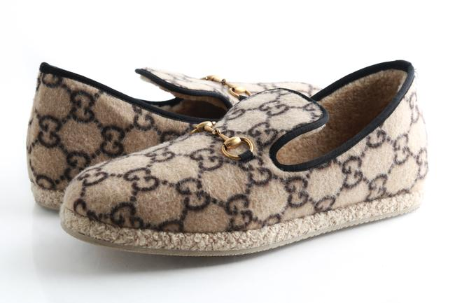 Item - Beige Gg Wool Loafer Shoes