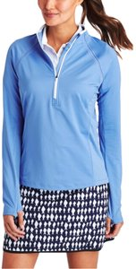 Vineyard Vines 1/2 Zip Performance Active Golf Workout Blue Thumbhole Top Funnel Neck