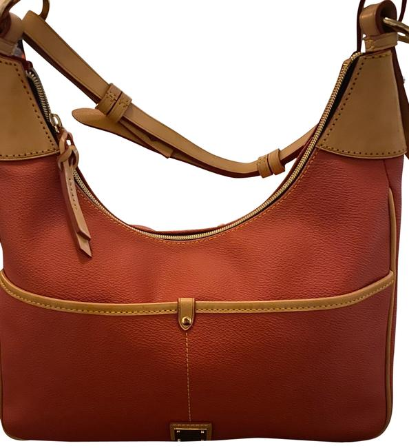 Item - Rebekah Red Leather and Coated Canvas Hobo Bag