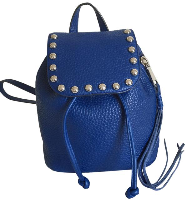 Item - Micro Unlined Royal Blue Leather Backpack