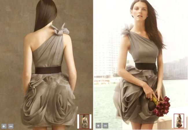 Item - Gray Organza Style Vw360012 Formal Bridesmaid/Mob Dress Size 4 (S)