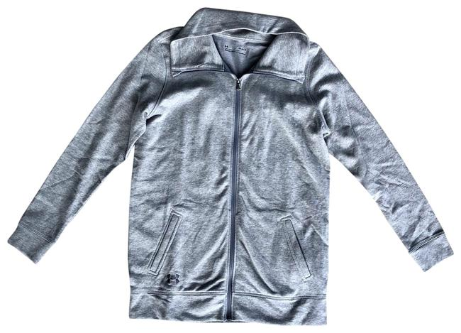 Under Armour Grey Zip Up Jacket Activewear Top Size 8 (M) Under Armour Grey Zip Up Jacket Activewear Top Size 8 (M) Image 1