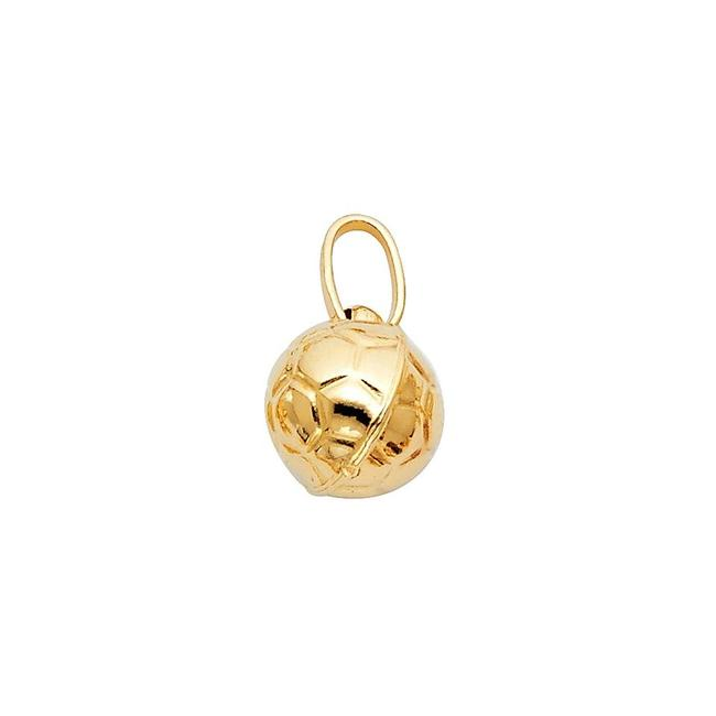 Item - Yellow Gold 14k Soccer Ball Pendant - Two Pieces Charm