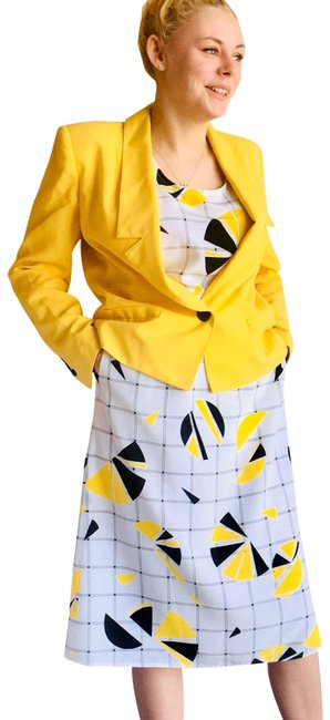 Item - Yellow L For A.s.l Bananarama Skirt Suit Size 8 (M)