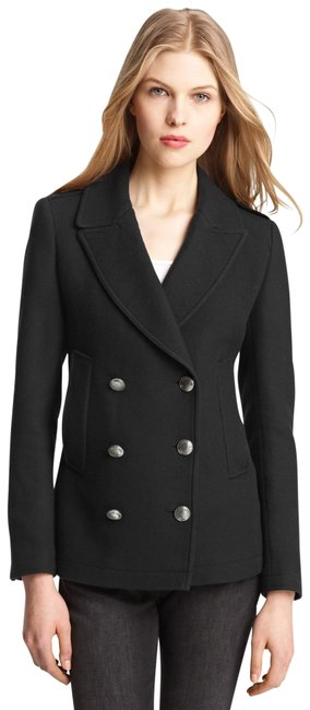 Item - Topcliffe Wool Double Breasted In Black Euc Coat Size 12 (L)