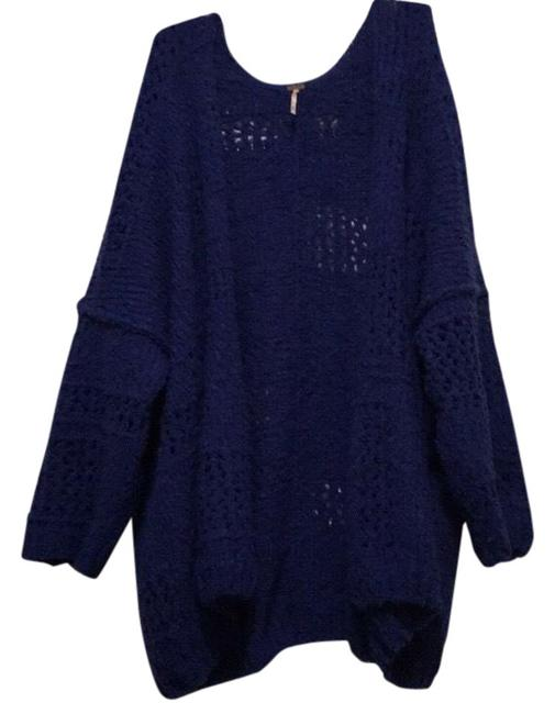 Free People Oversized Cardigan Royal Blue Sweater 49% off retail