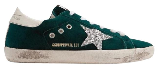 Golden Goose Deluxe Brand Green Superstar Distressed Velvet Sneakers Size EU 35 (Approx. US 5) Regular (M, B) Golden Goose Deluxe Brand Green Superstar Distressed Velvet Sneakers Size EU 35 (Approx. US 5) Regular (M, B) Image 1