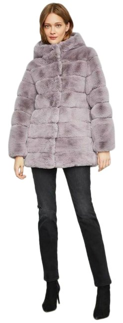 Item - Black Bcbg Felicia Faux Fur Hooded Coat Super Soft Jacket Size 8 (M)