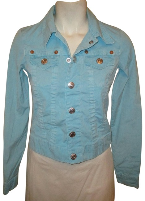 Item - Turquoise Stretch Twill Jacket Size 2 (XS)