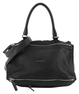 Givenchy Hermes Leather Satchel in black