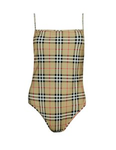 Burberry Burberry Plaid Check One-Piece Swimsuit sz L