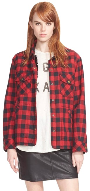 "Item - Black and Red Buffalo Plaid ""the Workman"" Shirt Jacket Size 0 (XS)"