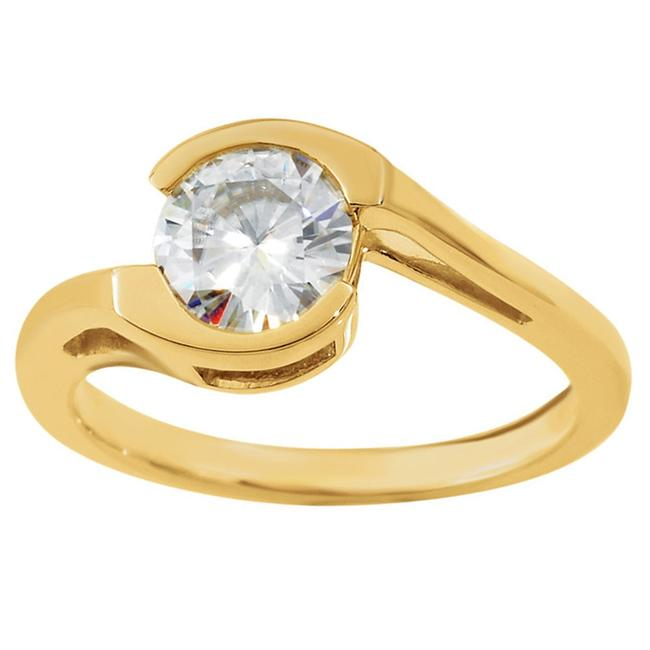 SB Diamond Yellow 0.45 Ct Ladies Round Engagement Ring SB Diamond Yellow 0.45 Ct Ladies Round Engagement Ring Image 1