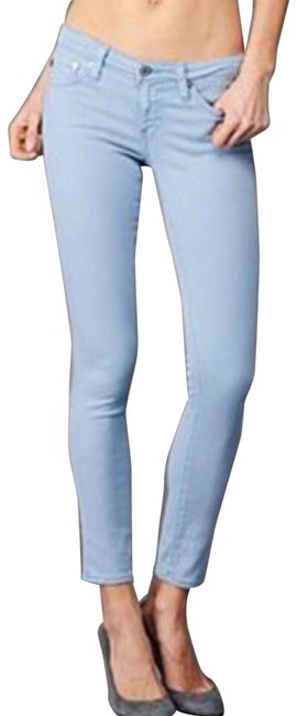 AG Adriano Goldschmied Blue Stevie Slim Ankle Straight Leg Jeans Size 26 (2, XS) AG Adriano Goldschmied Blue Stevie Slim Ankle Straight Leg Jeans Size 26 (2, XS) Image 1