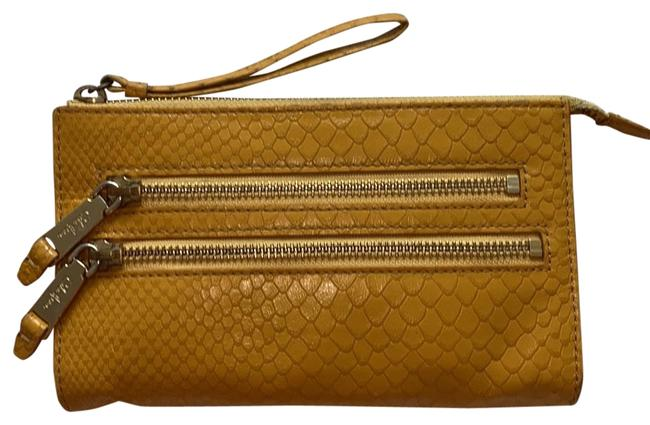 Item - With Inside Pouch Yellow Leather Wristlet