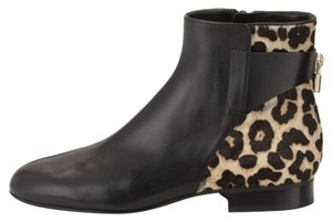 Michael Kors Leaoprd Leather Black natural Boots