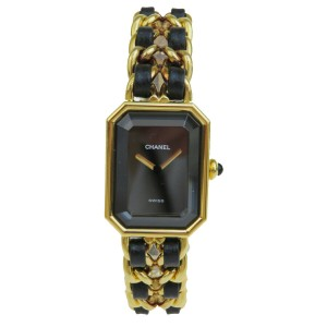 Chanel Authentic CHANEL Vintage Premiere Wristwatch Quartz Gold-Tone Swiss