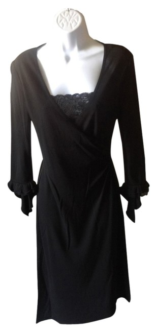 Preload https://img-static.tradesy.com/item/2665693/black-lbd-with-lace-accents-and-34-sleeves-mid-length-cocktail-dress-size-4-s-0-0-650-650.jpg