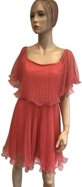 Item - Coral Pink Mid-length Cocktail Dress Size 8 (M)