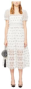 white with black dots Maxi Dress by self-portrait
