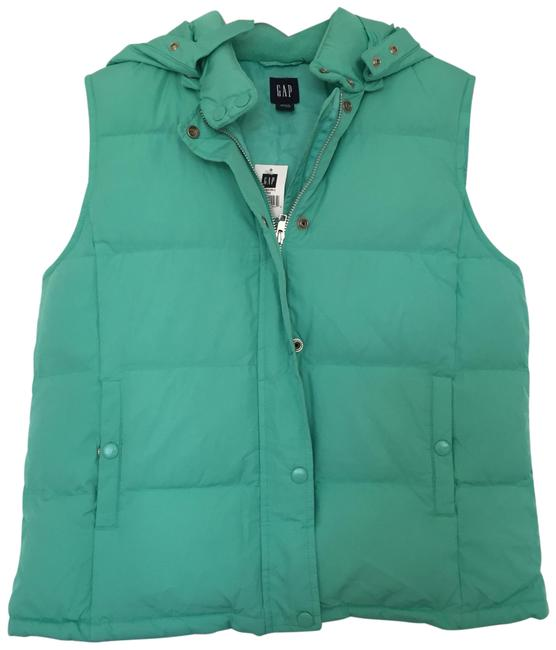 Item - Green Blue Warmest Down Vest Size 12 (L)
