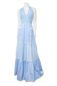 Blue Maxi Dress by Luisa Beccaria