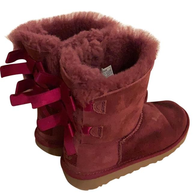 Item - Dark Pink Girl Bailey Bow For Boots/Booties Size US 4 Regular (M, B)
