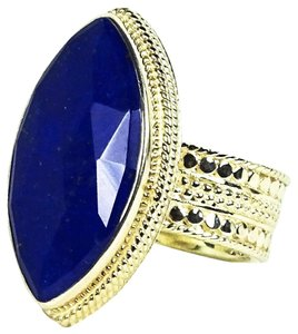 Anna Beck ANNA BECK Gili Sterling Silver Faceted Lapis Lazuli Ring Size 6