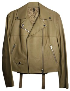 Helmut Lang dark ochre Leather Jacket