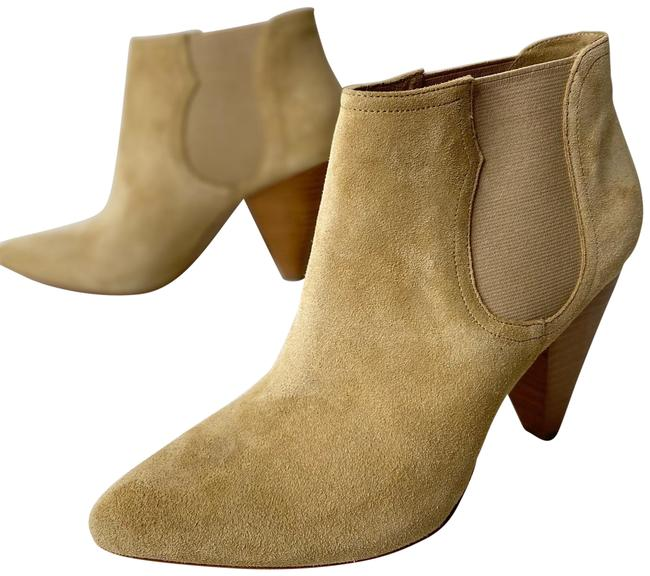Joie Gabija Suede Leather Ankle Cone Heel Chelsea Stretch 39.5 Boots/Booties Size US 9.5 Regular (M, B) Joie Gabija Suede Leather Ankle Cone Heel Chelsea Stretch 39.5 Boots/Booties Size US 9.5 Regular (M, B) Image 1