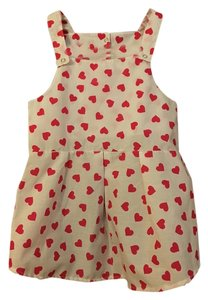 Cotton Pink Heart Dog Dress