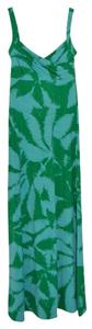 Palm Maxi Dress by BCBGMAXAZRIA Maxi Summer Green Blue