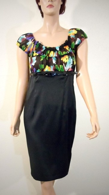AGB Clothing Empire Waist Belted Dress Image 1