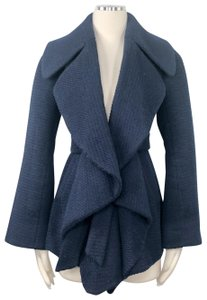 Yoana Baraschi Anthropologie Texture Belted Fit Flare Trench Coat