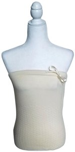 United Colors of Benetton Strapless Sweater-top Bow Top Cream
