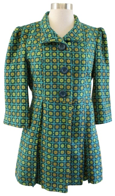 Item - Teal Blue/Green Retro Coat Size 8 (M)