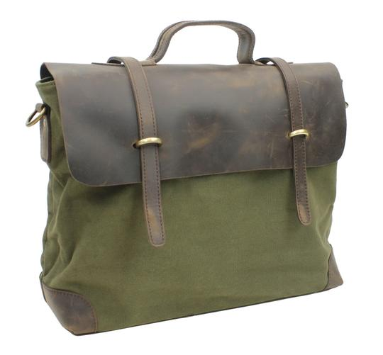 Preload https://img-static.tradesy.com/item/26659651/casual-style-cowhide-leather-cotton-c41-green-canvas-messenger-bag-0-0-540-540.jpg