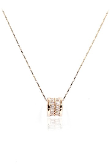 Preload https://img-static.tradesy.com/item/26659775/rose-gold-shiny-crystal-clavicle-necklace-0-0-540-540.jpg