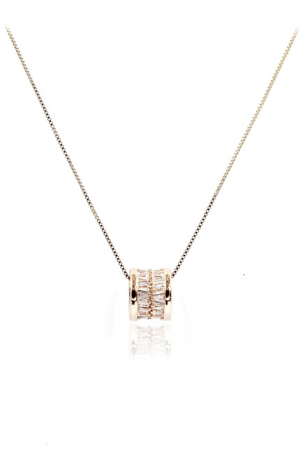 Ocean Fashion Rose Gold Shiny Crystal Clavicle Necklace Ocean Fashion Rose Gold Shiny Crystal Clavicle Necklace Image 1