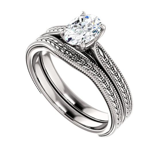 Preload https://img-static.tradesy.com/item/26659824/white-100-ct-ladies-oval-solitaire-set-engagement-ring-0-0-540-540.jpg