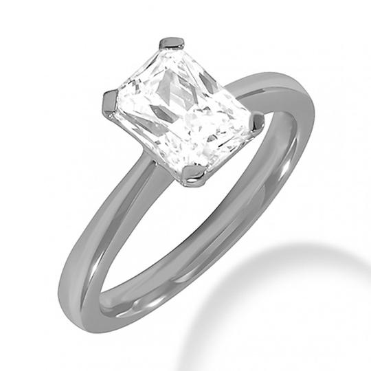 Preload https://img-static.tradesy.com/item/26659875/white-100-ct-emerald-solitaire-engagement-ring-0-0-540-540.jpg